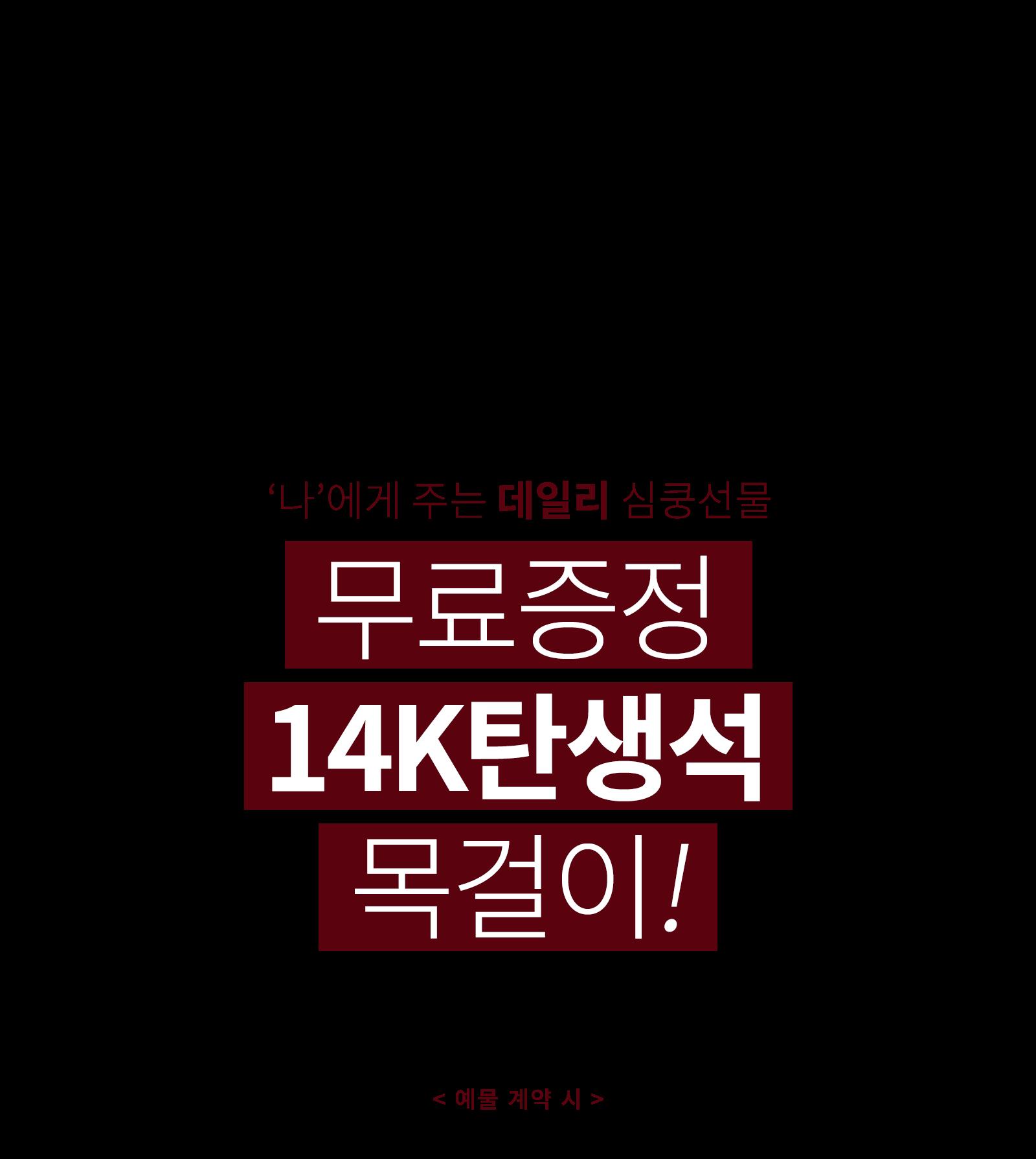 14K 탄생석 목걸이